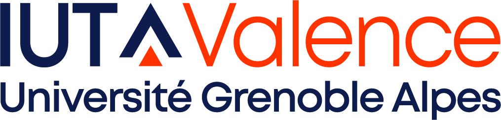 Logo IUT Valence horizontal CMJN
